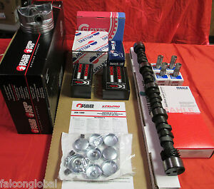 Chevy 283ci Master Engine Kit Pistons Rings Gaskets Bearings Hydr Cam 1957