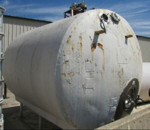 4000 Gallon Stainless Steel Insulated Horizontal Food Grade Tank Beer wine dair