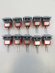 10 New C k 8125 Push Button Switch Spdt Momentary Cap Led Snap in Green Led