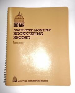Dome 612 Simplified Monthly Bookkeeping Record Tan Cover 8 5 X 11