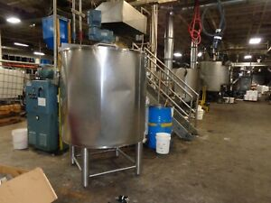 400 Gallon Ss Jacketed Insulated Mix Tank W Scrape Surface Mixers beer dairy