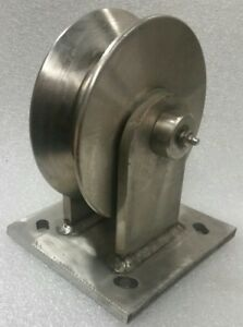 2 500 Stainless Steel V groove rail Track Caster greasable 6 2 3 8
