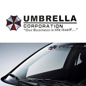 Umbrella Corporation Car Front Rear Windshield Decal Auto Window Styling Sticker
