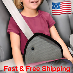 New Seat Belt Adjuster Adapter For Secured Toddler Safety Fit In Car Gray