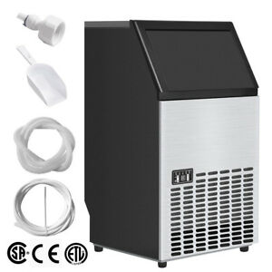 Us 110lb Built in Commercial Ice Maker Undercounter Freestand Ice Cube Machine