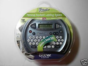 Brother P touch Personal Labeler Pt 70bm Label Maker W m Tape Chrome Grey Color
