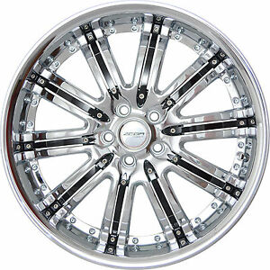 4 Gwg Wheels 20 Inch Chrome Black Narsis Rims Fits Honda Civic Coupe 2012 2015