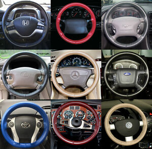 Wheelskins Genuine Leather Steering Wheel Cover For Toyota Echo