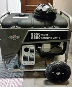 5 5kw Generator Briggs Stratton Gasoline Model 030235 00 8 5kw Starting Watts