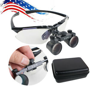 Usa Light weight Dental Surgical Medical Binocular Loupes 2 5x 360 580mm Adjust