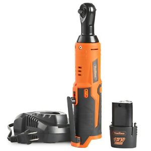 Vonhaus Cordless Electric Ratchet Wrench 12v Lithium Ion Battery Charger Kit 1 4