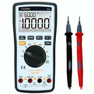 Digital Multimeter Surpeer 20000 Counts Multi Capacitor Tester True Rms Auto