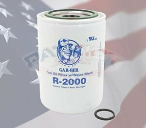General Oil 2630 r2000 Water Seperator Epoxy coated Replacement Cartridge