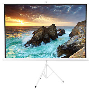 Vivo White 100 Portable Projector Screen 4 3 Projection Folding Tripod Stand