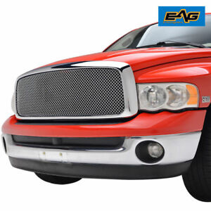 2002 2005 Dodge Ram 1500 Grille Replacement Chrome Upper Packaged Wire Mesh