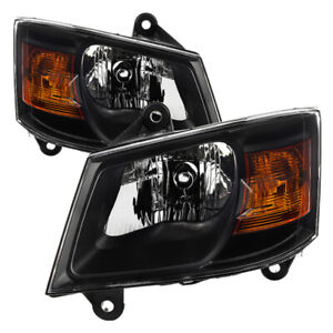 2008 2010 Dodge Grand Caravan Mpv C v Se Sxt Clear Black Headlight Replacement
