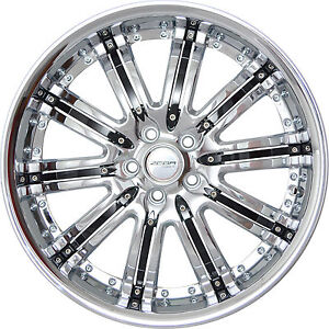 4 Gwg Wheels 20 Inch Stagg Chrome Black Narsis Rims Fits Ford Mustang Boss 12 14