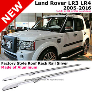 Lr3 Lr4 Land Rover Discovery 05 16 Roof Rack Rails Extended Silver Aluminum