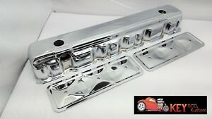 Straight Inline 6 Chrome Valve Cover With Side Plates 194 230 250 292 Chevy Gm