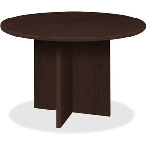 Lorell Conference Table Round Top 42 dia X 1 thick X 29 h Espresso Pt42res