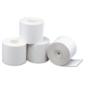 Pm Company Direct Thermal Printing Thermal Paper Rolls 2 5 16 X 338 Ft White 12