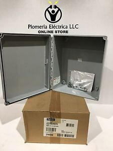 Hoffman A12106chscfg Type 4x 12x10x6 Wall Mount Junction Box Enclosure New