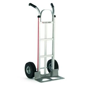 Magliner Aluminum 18 Wide Nose Hand Truck 216 u 1060 Air Tires 60 Tall