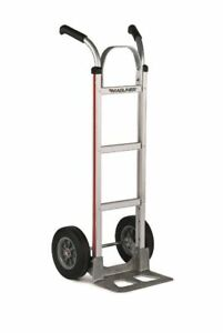 Magliner Hand Truck With 14 Nose 10 Semi pneumatic Tire And Vertical Strap
