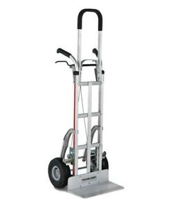 Braking Aluminum Hand Truck 55 Tall With Solid Aluminum Nose Plate