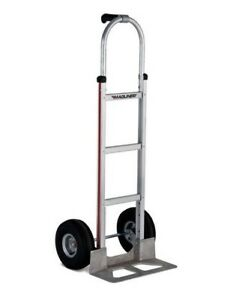 Magliner Aluminum Hand Truck 52 Tall Single Grip Handle With Stair Glides