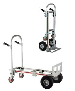 Magliner Gemini Jr Convertible 18 Nose 10 Soft Tire Hand Truck Gma16g1b l