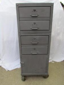 Used Lyon Drawer Industrial Cabinet With Casters Custom Built Tool Box