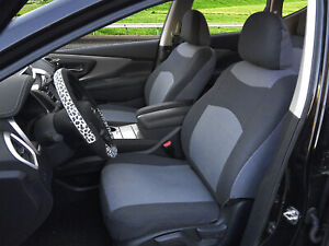 2 Tone Gray Cloth Fabric Two Front Car Seat Covers For Honda 16002