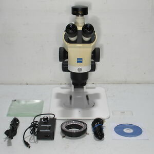 Zeiss Stemi 2000 c Stereo Microscope W 3 2mp Camera 10x Eyepieces