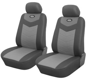 Pair Of Front Car Seat Covers In Pu Leather For Honda 25702 Grey