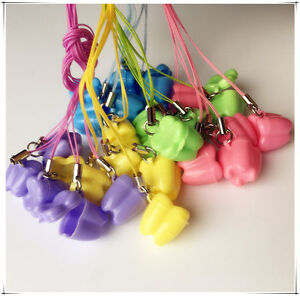 300pcs Milk Teeth Holder Boxes Plastic With Necklace Tooth Shaped Baby Kids