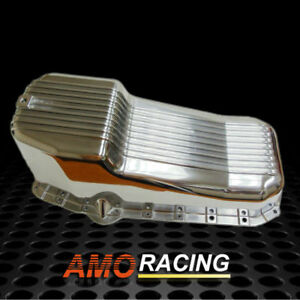 Finned Polished Aluminum Oil Pan Fit 58 79 Sbc Chevy Small Block 283 305 327 350