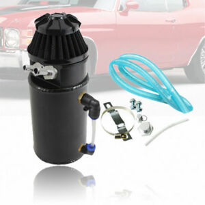 Aluminum Oil Reservoir Catch Can Tank With Breather Filter Set Fit Universal