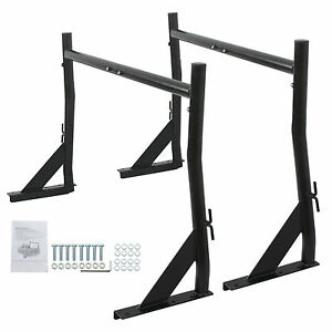 2 Bars Adjustable Pickup Truck Rack Lumber Kayak Contractor Ladder 650lbs