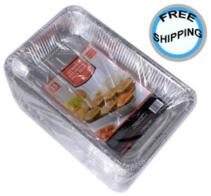 Steam Table Pans With Lids Full Size Deep Disposable Aluminum Foil 50