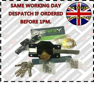 Perry High Security Garden Gate shed door Lock 50mm Long Throw Keyed Alike
