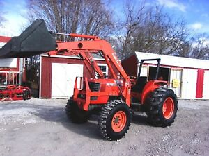 Kubota M6800 4x4 Tractor Loader 70 Hp Can Ship 1 85 Loaded Mile