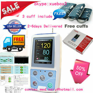 Nibp Monitor 24hour Ambulatory Blood Pressure Monitor Holter Abpm 50 software