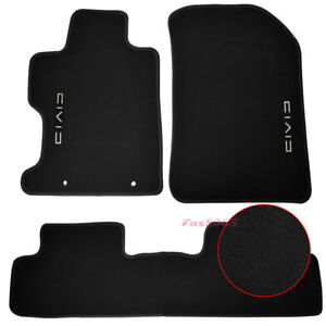 Fits 2006 2011 Honda Civic Fa Fd Black Nylon Floor Mats Carpets Front Rear