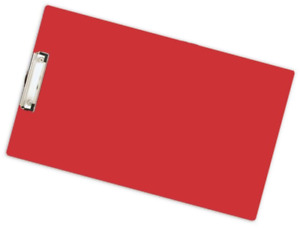11x17 Acrylic Clipboard With Low Profile Clip Red 544160