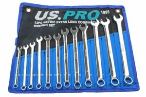 X long Spanner Set 8mm To 19mm Combination Spanners 12 Piece Set Us Pro B1995