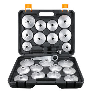 23pcs Oil Filter Wrench Socket Cap Removal Tool Kit For Toyota Jeep Audi Bmw Gm