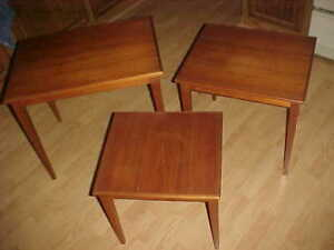 Mid Century Danish Nesting Tables Teak Signed Retro Nest 1950 1960