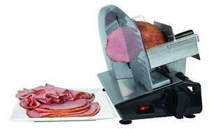 Electric Meat Slicer Heavy Steel Deli Cheese Cutter Food Restaurant Ham Cuts