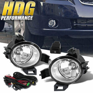 Fits 2005 2006 Nissan Altima Upgrade Fog Lights Lamp Clear Harness Replacement
